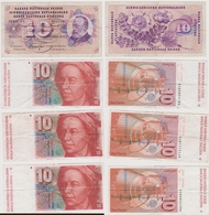 Lot De 4 Billets Suisse - Svizzera