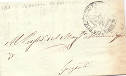 1848 Prefilatelica -SERVIZIO PUBBLICO - Con Stemma Della TRINACRIA - Per GIRGENTI -franc - 1. ...-1850 Prefilatelia