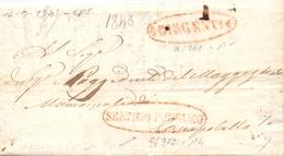 1848 Prefilatelica -SERVIZIO PUBBLICO - Con Stemma Della TRINACRIA - Per Campobello -franc - 1. ...-1850 Prefilatelia