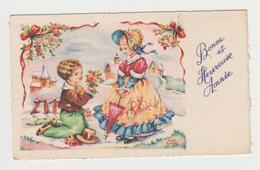 AC273 - MIGNONETTE  - Bonne Année - Signée Luce André - Paysage D'hiver - Enfants - Amoureux - éditions Superluxe - Nouvel An