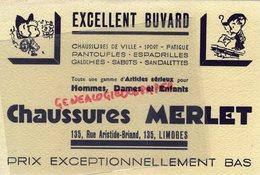 87 - LIMOGES - BEAU BUVARD CHAUSSURES MERLET - PANTOUFLES  GALOCHES- 135 RUE ARISTIDE BRIAND - Zapatos