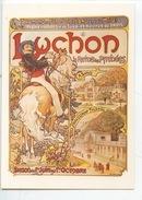 Alphonse Mucha - Luchon Chemins De Fer D'Orléans Et Midi : La Reine Des Pyrénées (cp Vierge) - Publicité