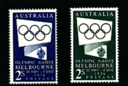 AUSTRALIA - 1954  OLYMPIC GAMES   SET  MINT NH - 1952-65 Elizabeth II: Ediciones Pre-Decimales
