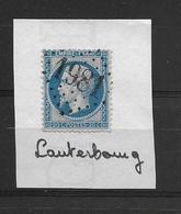 LAUTERBOURG Oblitération GC 1981 Sur Timbre Napoléon III - Elsass-Lothringen