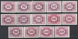 Austria 1922 Segnatasse Unif.117/30 **/MNH VF/F - Strafport