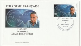 FDC - POLYNESIE - 1996 - Hommage à Paul Emile Victor. - FDC