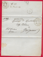 REGNO D'ITALIA - 1873 Manoscritto Da MONTELANICO A GAVIGNANO - Timbro Lineare NON COMUNE Timbro A Sigillo - 1861-78 Victor Emmanuel II.