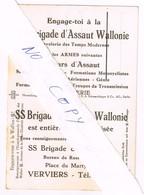 Degrelle. Brigade D'Assaut Wallonie. Carte Postale De Propagande Originale. RRR - Historische Documenten