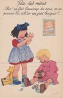 Illustrateur JACQ MO - Enfants Qui Cassent Leur Tirelire Pour La Fête Des Mères - (lot Pat 90) - Künstlerkarten