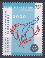 91° CONVENCION INTERNACIONAL DE ROTARY - BUENOS AIRES. ARGENTINA AÑO 2000, JALIL GOTTIG N° 3046, MNH TBE - LILHU - Rotary, Lions Club