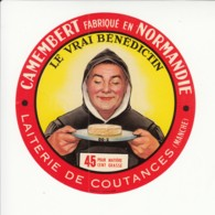Etiquette De Fromage - Le Vrai Bénédictin - Coutances - Manche. - Cheese