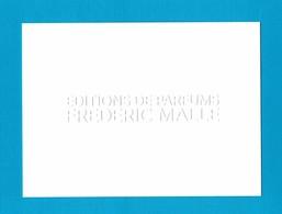 Cartes Parfumées  Cartes éditions De Parfums  Frédéric MALLE - Modernes (à Partir De 1961)