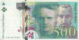 500 Francs - Marie Curie / Pierre Curie 1994 - 1992-2000 Dernière Gamme