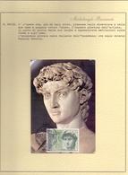 MICHELANGELO   MAXIMUM CARD RUSSIA + DESCRIZIONE DA COLLEZIONE     FANTASTIC CONDITION   (NOV190082) - Sculpture