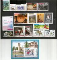 Année Complète 2017.  15 Timbres + 1 B-F Neufs **. Voiture Peugeot 1923, Visite Charles De Gaulle 1967,etc - Französisch Andorra