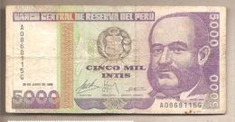 Perù - Banconota Circolata Da 5000 Intis P-138 - 1988 #18 - Perú