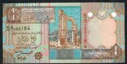 LIBYA P62 1/4 DINAR 2002 UNC. - Libya