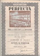 """""""PERFECTA"""" - S.A. Pour La Fabrication De La Bonneterie - Textile"""