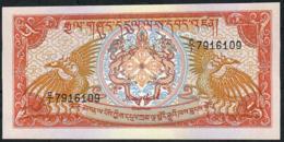 BHUTAN P14a 5 NGULTRUM 1985 #C/1 Signature 1 UNC. - Bhutan