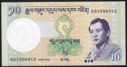 BHUTAN P29a 10 NGULTRUM 2006     UNC. - Bhutan