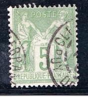 N° 102 Type Sage 5 C Vert (I) N Sous B Très Bon Premier Choix Sans Défaut - 1876-1878 Sage (Type I)
