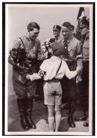 """DT- Reich (006278) Propaganda Sammelbild Adolf Hitler"""" Bild 166, Jungdeutschland Begrüßt Den Führer Im Wahlkampf - Deutschland"""