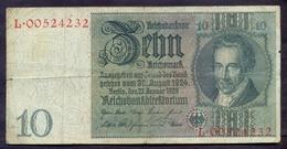 Germany 10 Reichsmark 1929 VF    P- 180 - 10 Mark