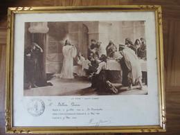PERPIGNAN - BELLVER PIERRE BAPTISE 1923 A ST CHRISTOPHE - LA CENE JOSEPH AUBERT COMMUNION PAROISSE ST JEAN BAPTISTE - Religion & Esotérisme