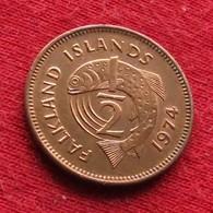 Falkland  Islands 1/2 Half Penny 1974 KM# 1  *V2  Malvinas Malwinen - Malvinas