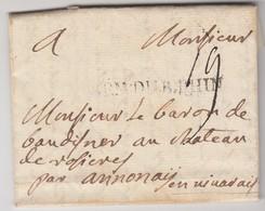 ARM.DU.B.RHIN. AU CAMP DE PHAMEDER 1° AOUT 1757, 5 JOURS APRES LA BATAILLE DE HASTENBECK. BARON DE BAUDINER / 1971 - Marcofilia (sobres)
