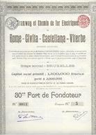 Tramway Et Chemin De Fer Electiques - Rome-Civita - Castellana - Vigterberome - Chemin De Fer & Tramway