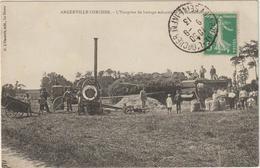 CPA  76  ANGERVILLE ML ORCHER L ENTREPRISE DE BATTAGE  MECANIQUE GOSSEHIR   MOISSONNEUSE BATTEUSE - Frankreich