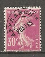 PREO Yv. N° 59  (o)   30c  Type P  Type Semeuse Fond Plein   Cote  4,2 Euro BE  2 Scans - Precancels