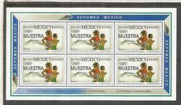MEXICO SEPOMEX MUESTRA SPECIMEN JUEGOS OLIMPICOS DE BARCELONA 1992 - Summer 1992: Barcelona