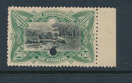 BELGIAN CONGO FILE COPY COB 24 MINT NO GUM AND DEMONETIZED HOLE - 1894-1923 Mols: Neufs