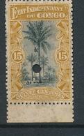 BELGIAN CONGO FILE COPY COB 20 MINT NO GUM AND DEMONETIZED HOLE - 1894-1923 Mols: Neufs