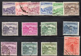 XP4403 - PAKISTAN , Paesaggi 14 Valori Misti Usati  (2380A) - Pakistan