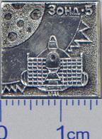 305 Space Soviet Russian Pin Zond-5 Soviet Moon Program - Space