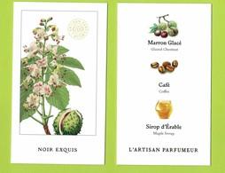 Cartes Parfumées Carte NOIR EXQUIS De L'ARTISAN PARFUMEUR   Recto Verso - Cartes Parfumées