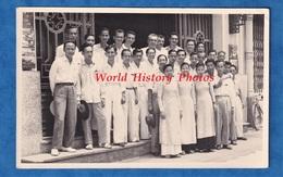 Photo Ancienne - VIET NAM Indochine - Portrait Homme & Femme Indo Chinois Personnel D' Entreprise - Saïgon ? Haïphong ? - Métiers