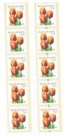 R92 Tulipe - Ligne Rouge Faible, 20 Derniers Et Rouge, 10 Dernier Timbres - Cat=€60.00 - Rollen