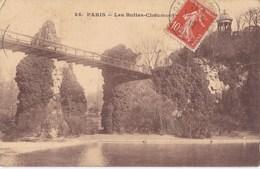 CARTE POSTALE ANCIENNE 75 PARIS LES BUTTES CHAUMONT  EDITIONS / A.B N° 25 - Parcs, Jardins