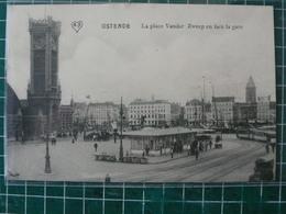 Oostende Ostende Panorama - La Plaçe Vander Zweep En Façe De La Gare - Oostende