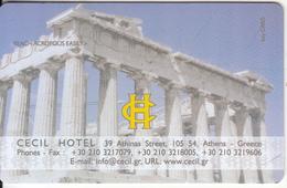 GREECE - Acropolis, Cecil, Hotel Keycard, Sample(no Chip) - Hotelkarten