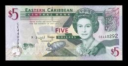 Estados Caribe East Caribbean 5 Dollars 2008 Pick 47 SC UNC - Caribes Orientales