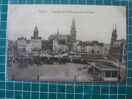 Oostende Ostende Panorama De La Ville à La Sortie De La Gare - Oostende