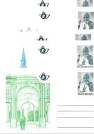 Belgie Briefkaarten BK34/38 POPE JOHN PAUL II UNUSED - Illustrat. Cards