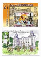 Bourses & Salons De Collections Lot De 16 CPM - Cartes Postales