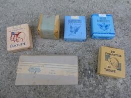 Guerre Indochine Algerie Lot 5 Paquets De Cigarettes De Collection Caporal Troupe Gauloises + Boites Allumettes - 1939-45