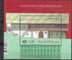 SLOVENIA, 2019, MNH, NACE'S HOUSE, ARCHITECTURE, S/SHEET - Other